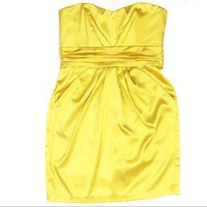 Le château strapless cocktail dress yellow Large